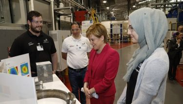 The £8.9m Lightweight Manufacturing Centre was officially opened by First Minister Nicola Sturgeon - image courtesy of University of Strathclyde.