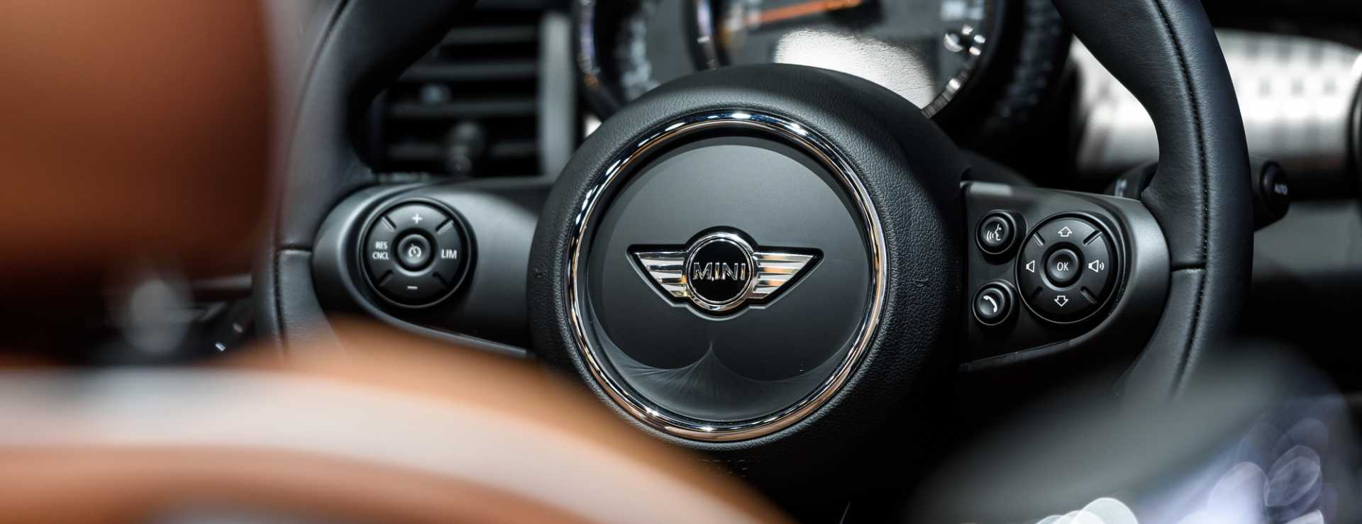 Inside of Mini Cooper S - image courtesy of Depositphotos.