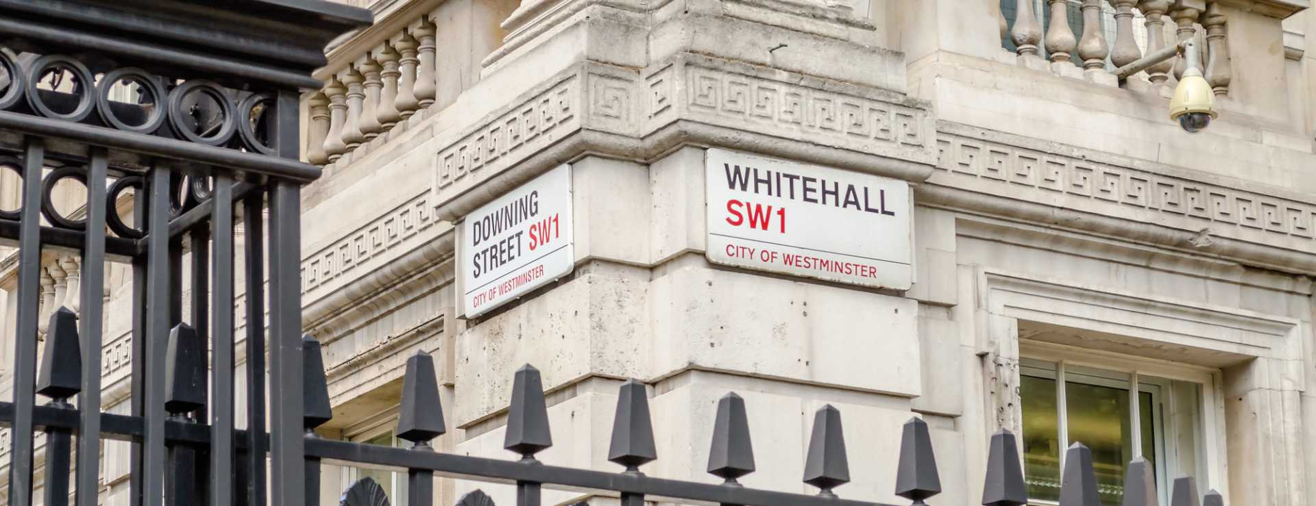 CROP - Whitehall Downing Street in London - image courtesy of Depositphotos.