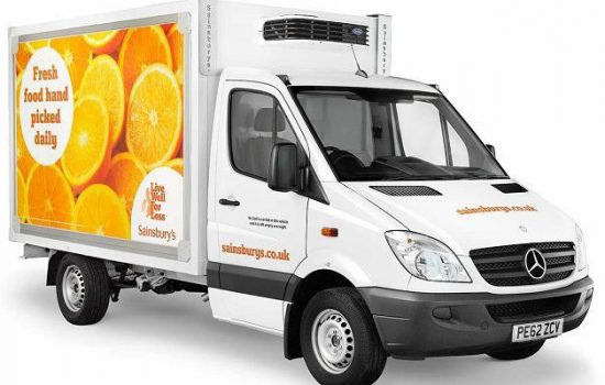 Sainsbury's delivery vehicle