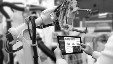 STOCK manufacturing digital automation robotics industry 4.0 tablet digitisation of manufacturing