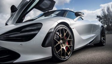 Dymag - carbon fibre wheels technology - McLaren with aftermarket wheel2 b