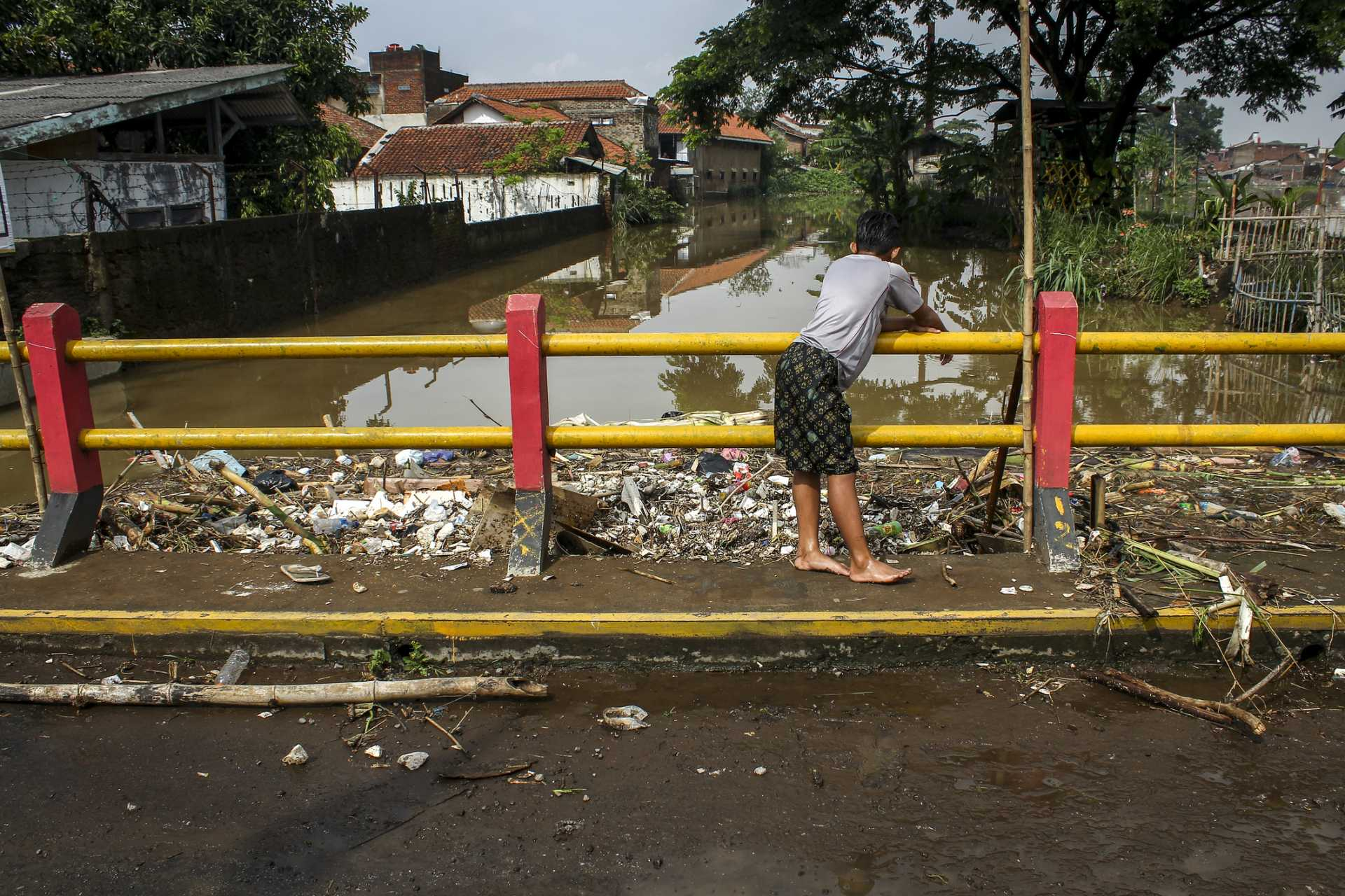 Citarum River, Indonesia -featured in Stacey Dooley's BBC documentary, Fashion's Dirty Secret. The environmental destruction of the Citarum River is attributed to local clothing factories which are linked to large high street fashion chains in the UK.