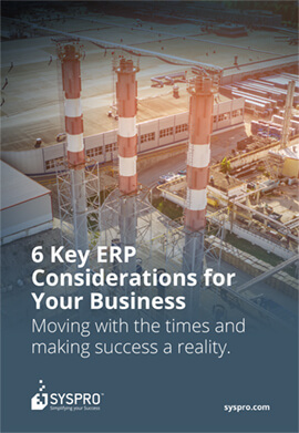 K3 Syspro - 6 Key ERP Considerations for Your Business Whitepaper - Front Cover