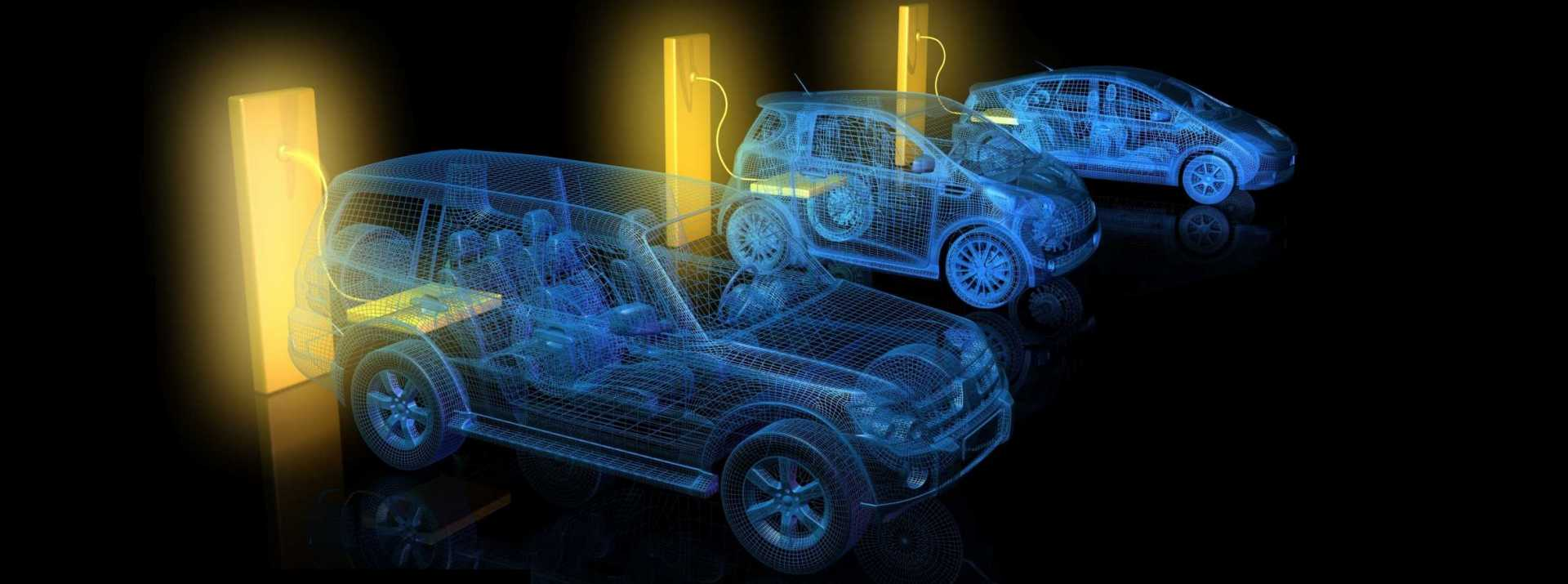 CROP - Automotive charging points electric and hybrid vehicles batteries thermal runaway – shutterstock image.