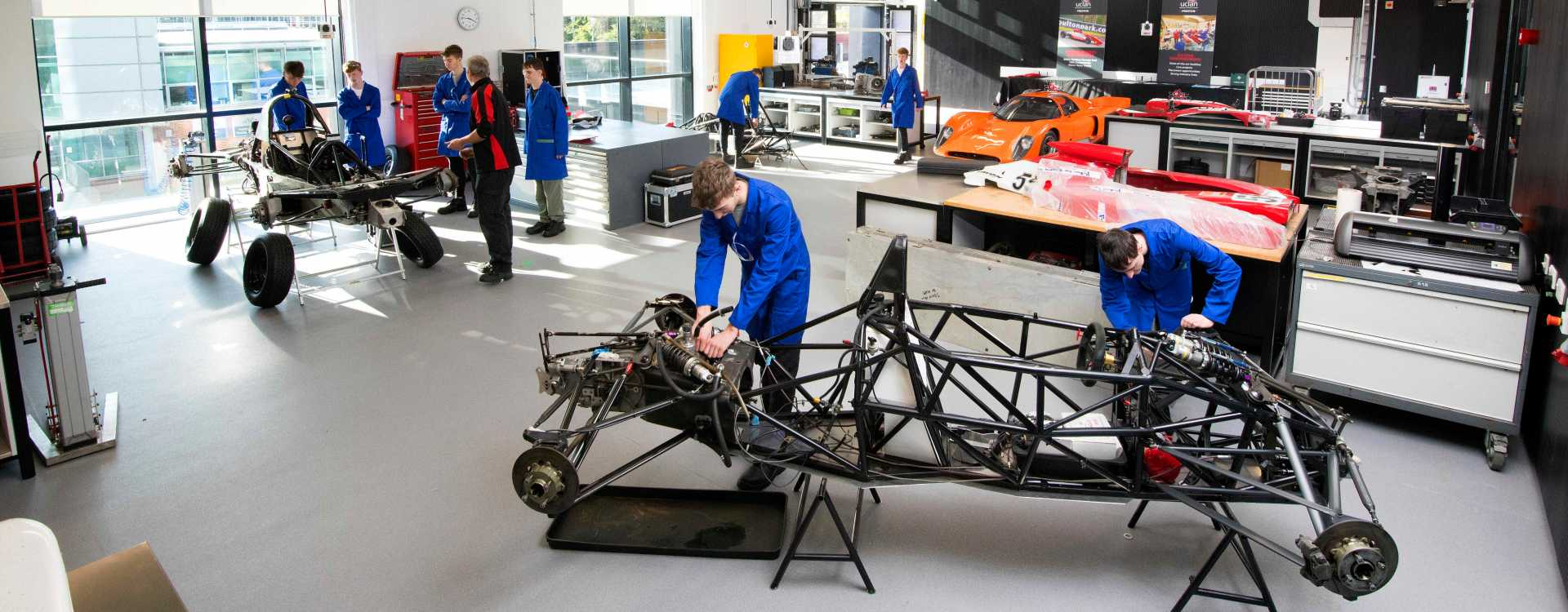 Motorsports and Air Vehicle Lab - image courtesy of the University of Central Lancashire (UCLan).