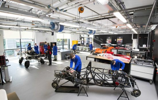 Engineering Innovation Centre - Motorsports and Air Vehicle Lab - image courtesy of the University of Central Lancashire (UCLan).