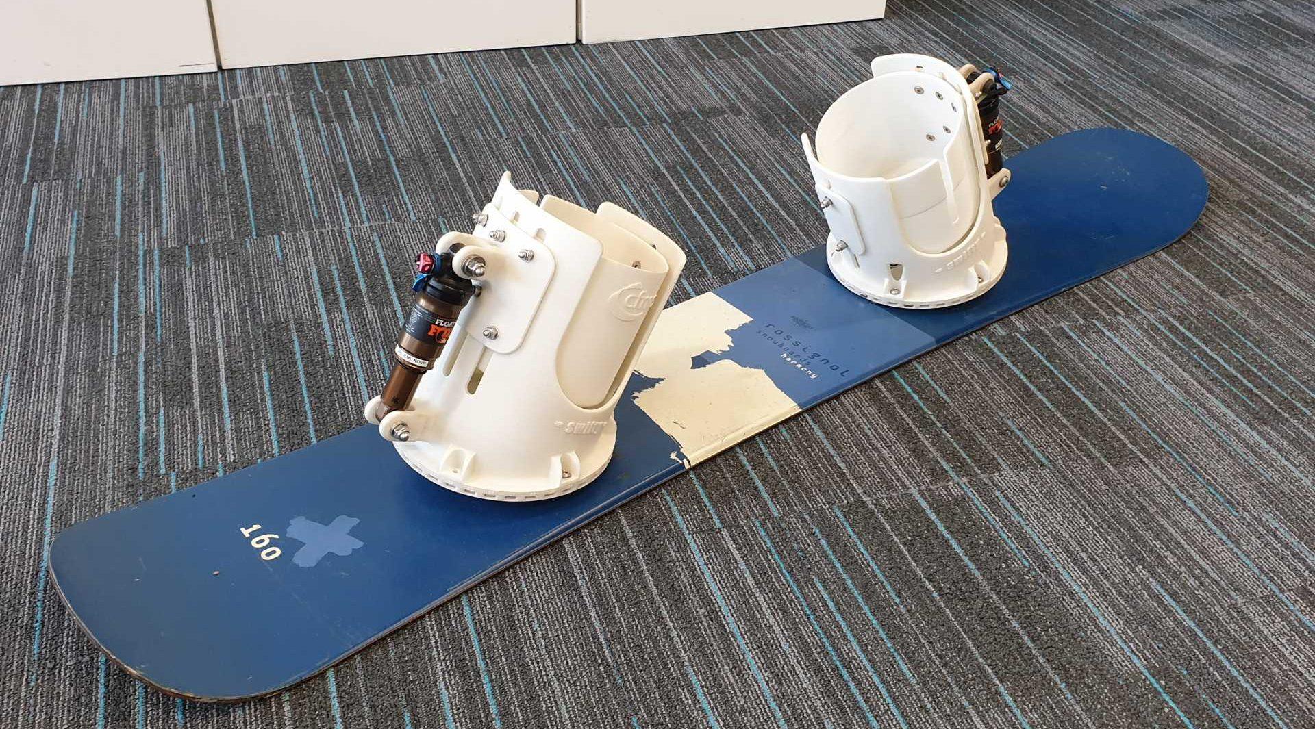 CFMS' snowboard bindings