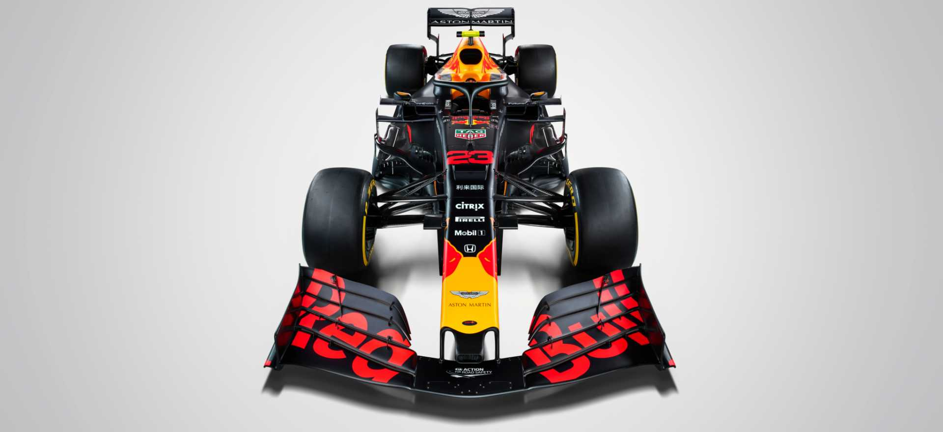FULL WIDTH - Max Verstappen's #33 Aston Martin Red Bull Racing RB15 seen during a Studio Shoot, United Kingdom, February 2019 - image courtesy of Thomas Butler / Red Bull Content Pool