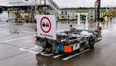 British Airways Autonomous Baggage Vehicle Aurrigo
