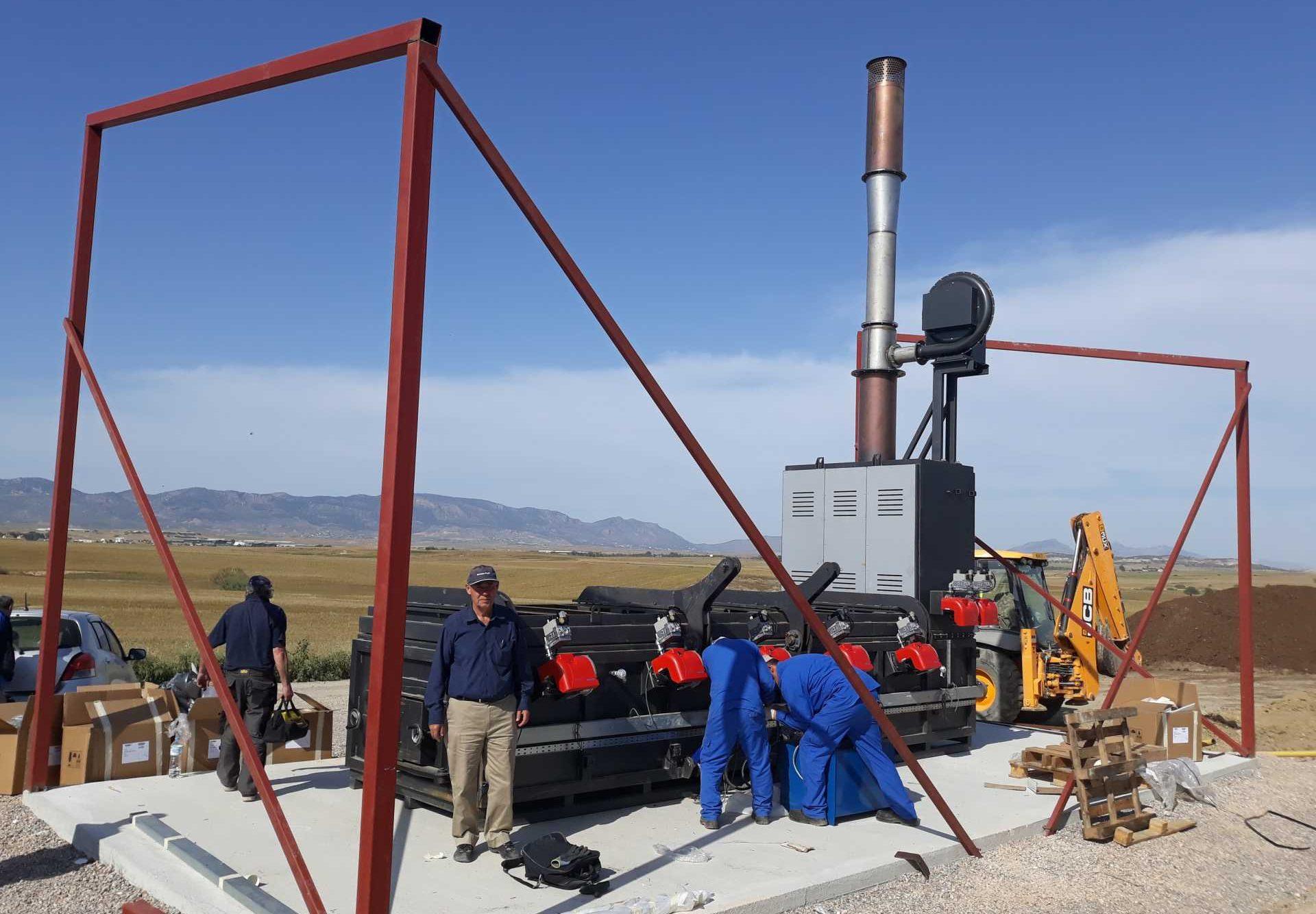 Inciner8 team on site installation in Africa