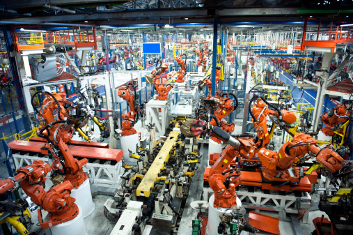 Automation Digital Transformation Smart Factory Manufacturing _155386817 STOCK IMAGE