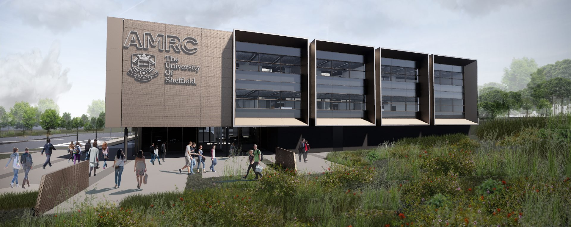 An artist impression of the University of Sheffield AMRC North West facility.