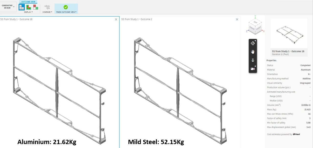 Stage One Generative Design - Modular Stage Deck - image courtesy of Stage One & Autodesk