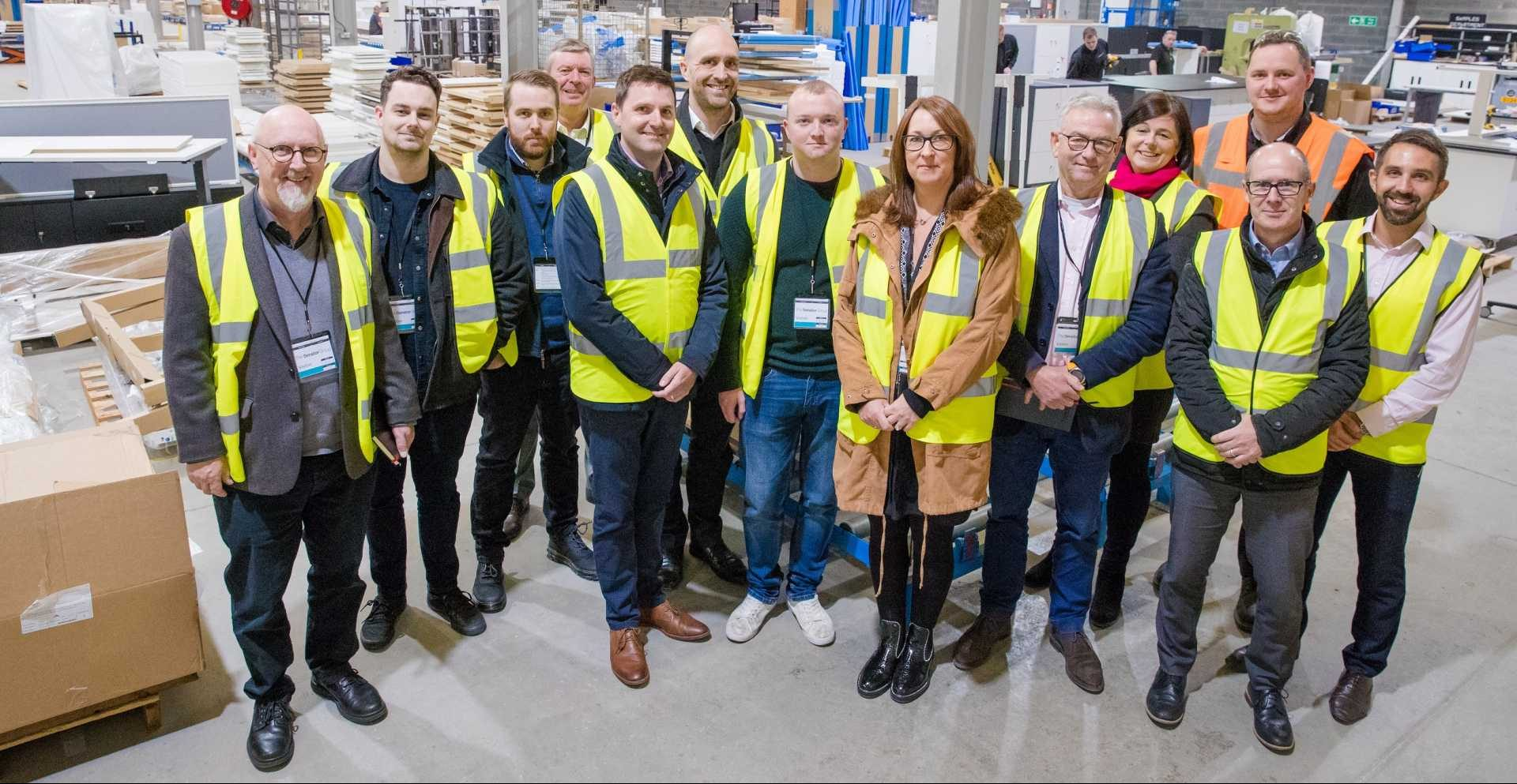 2019/20 Delegates of the Made Smarter Leadership Programme during a visit to Veka