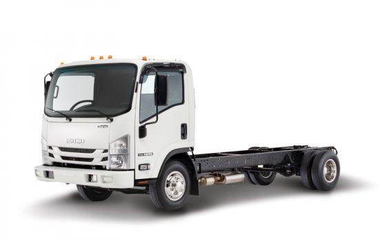 An Isuzu NPR Gas Cab Chassis commercial truck - image courtesy of Isuzu