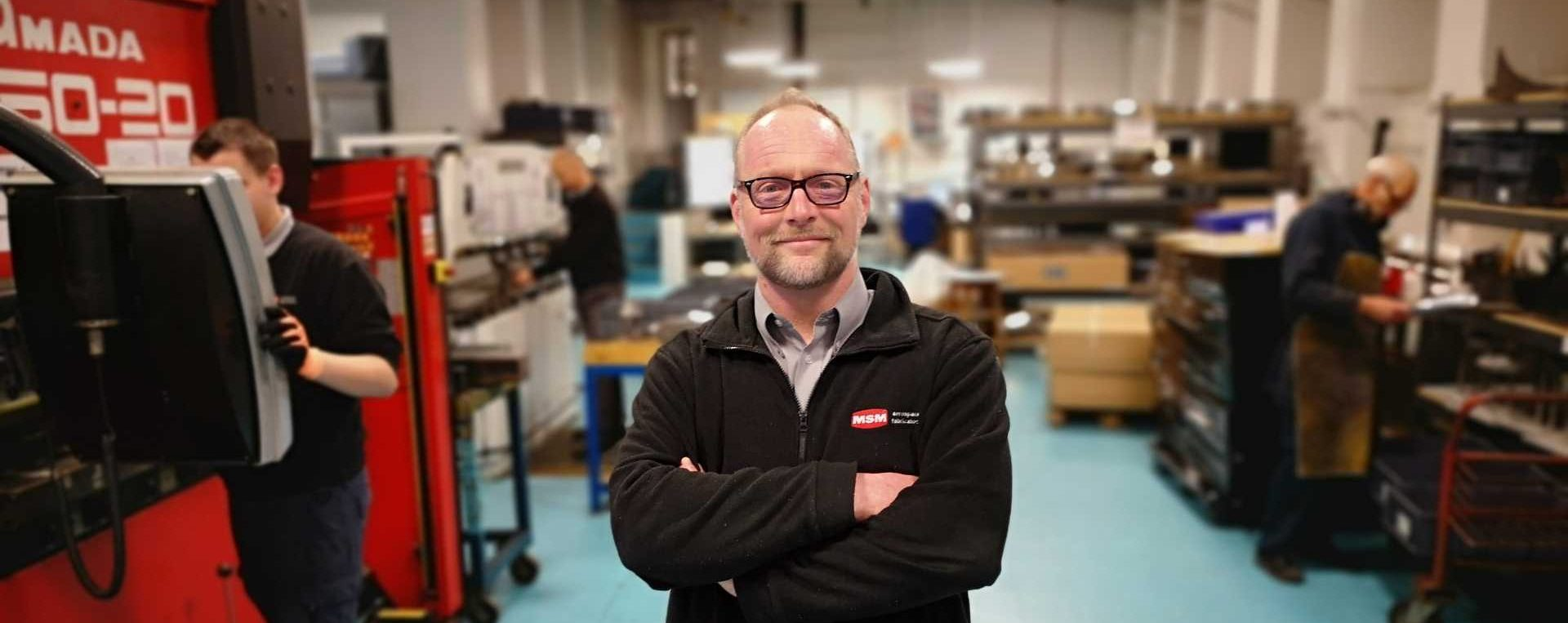 Michael Pedley, managing director of MSM aerospace fabricators - image courtesy of Made Smarter.