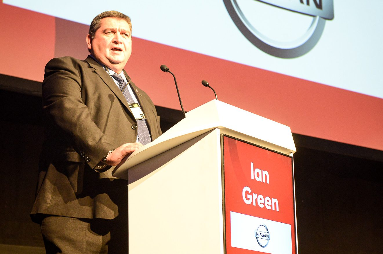 The Manufacturer Top 100 2019 -Ian Green runs Nissan's global training network. He was an Exemplar in the 2018 Top 100. He gave a rousing speech to this year's intake.