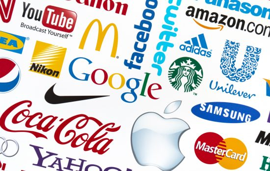 A logotype collection of well-known world brand's, demonstrating the importance of branding including Nike, Coca-Cola, Apple and more - image courtesy of Adobe Stock.