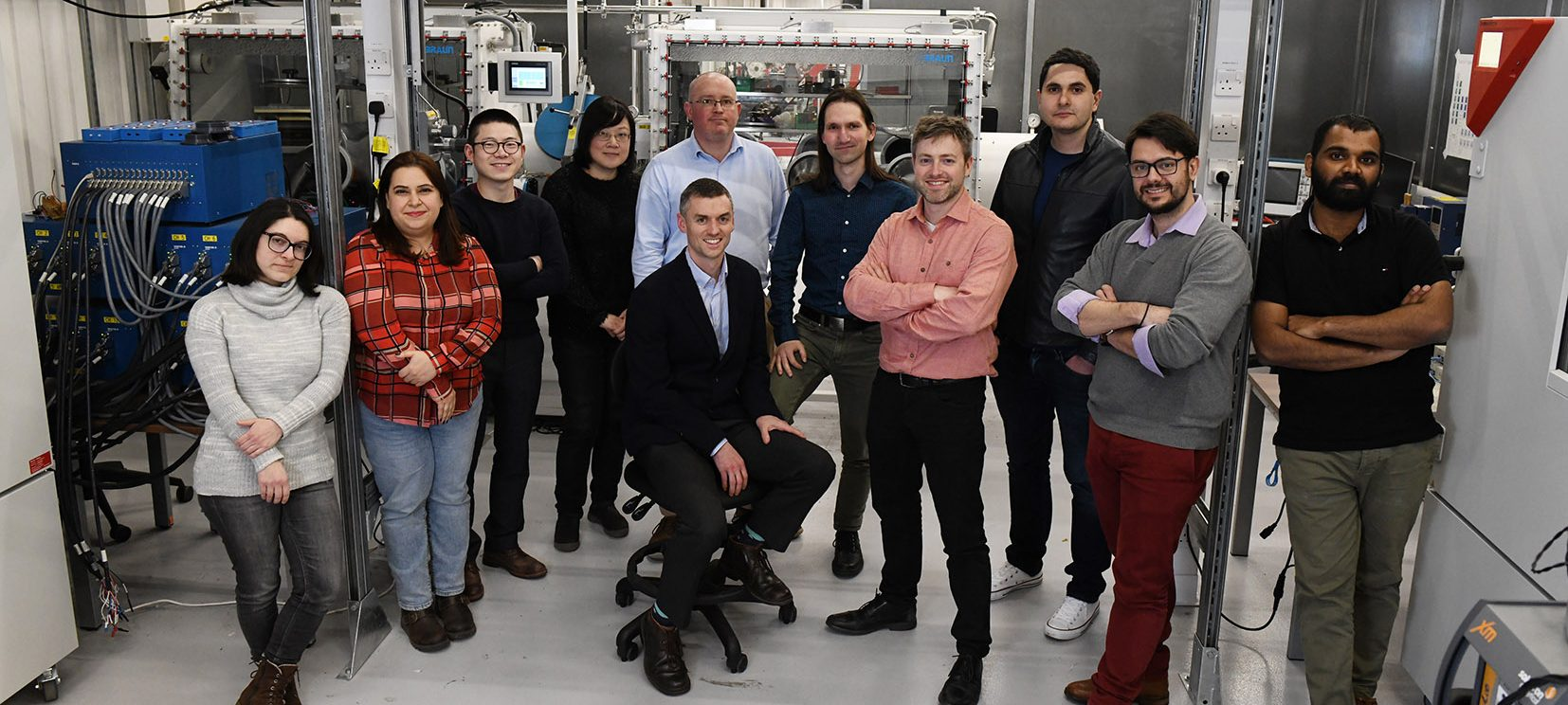 Simon Shepherd (centre) with the C-ALPS team.