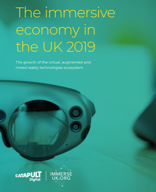 Immersive Technology - The Immersive Economy in the UK Report 2019 - Front Cover