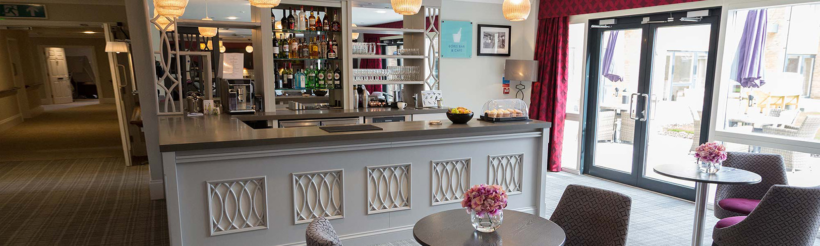 Bar at Bramshott Place Care Home. Image: Zero Point 8