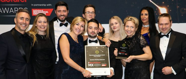 The Domino team at The Manufacturer MX Awards 2019. Carl Haycock at far left. Image: The Manufacturer