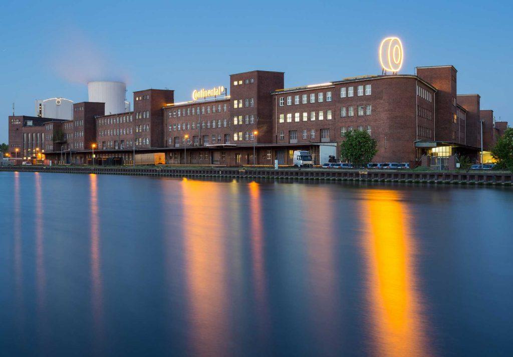 Continental AG tyre factory Mittellandkanal Stoecken, Hannover