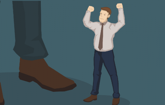 Competing with large corporations can be a David and Goliath battle - stock image courtesy of AS