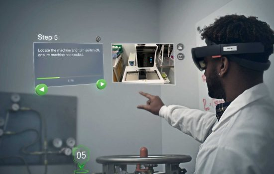 Augmented Reality - PTC's Vuforia® Expert Capture AR technology and Microsoft's HoloLens were used to capture assembly steps.