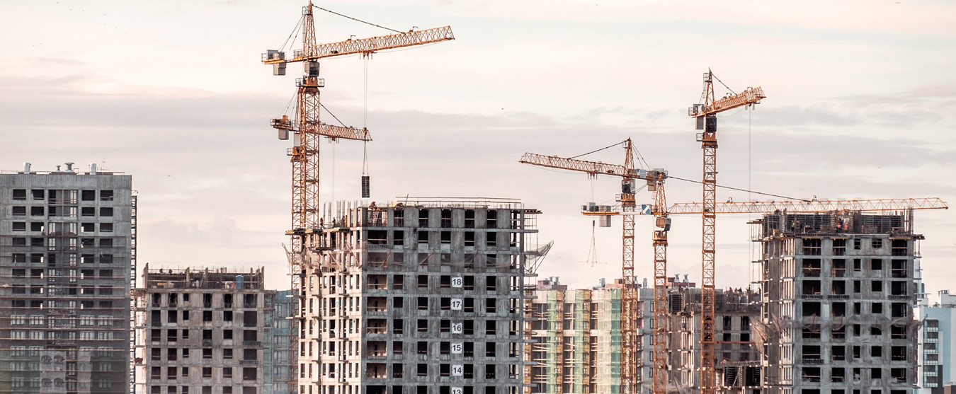 Construction Building High Rises - STOCK IMAGE