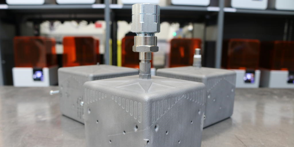 additive manufacturing - AM fuel tank prototypes developed by the AMRC team - image courtesy of AMRC.
