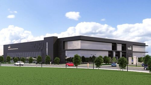 Artists impression of the completed Vaccines Manufacturing and Innovation Centre - image courtesy of VMIC