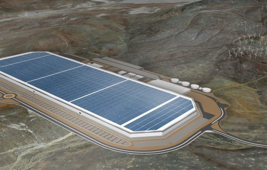 LARGE - A rendering of the first complete Gigafactory in Nevada. Image courtesy of Tesla.