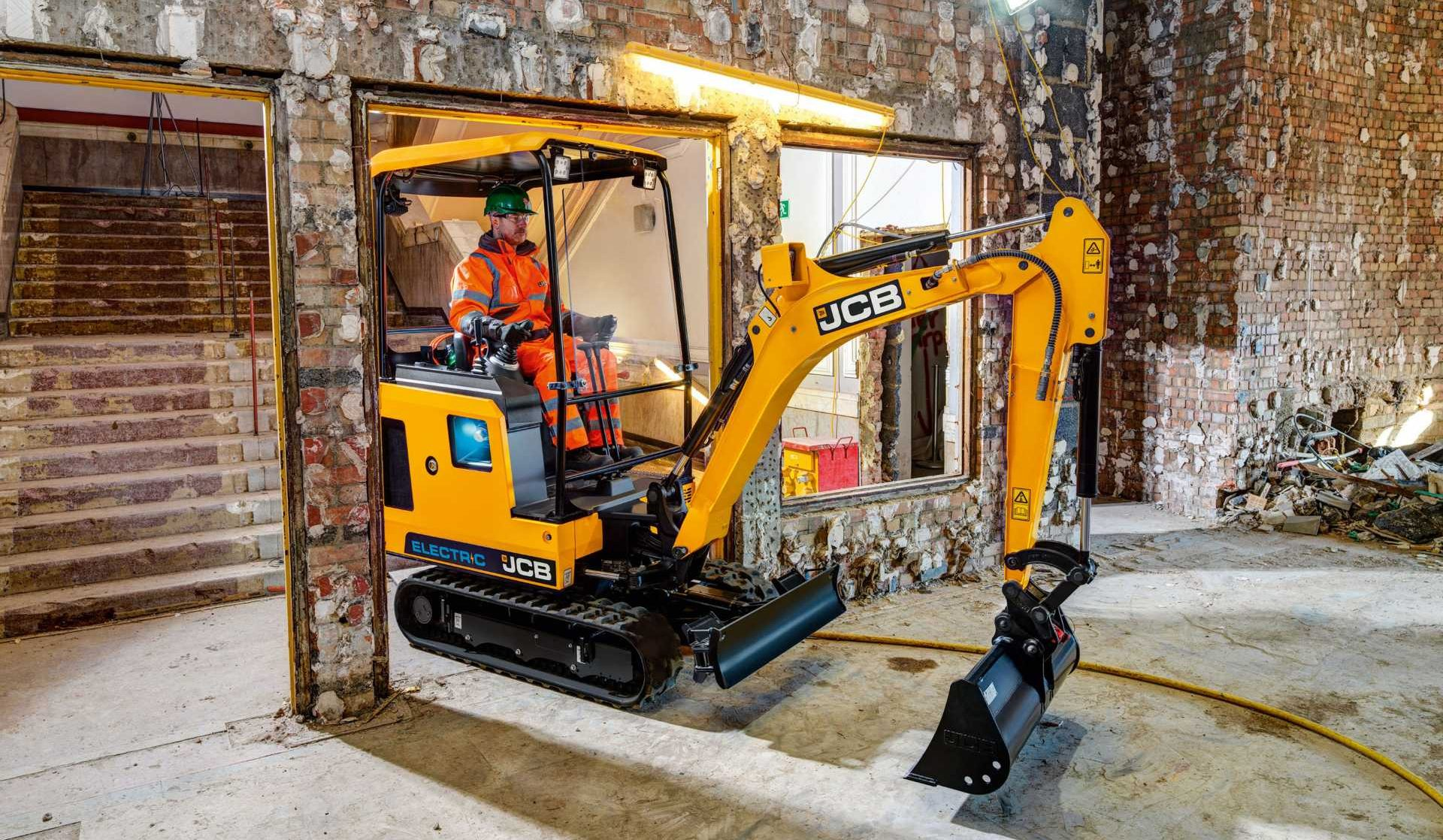 JCB (Staffordshire) for developing and manufacturing the world's first volume produced fully electric digger (19C-1E),