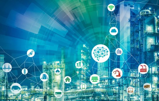 IIoT - AI(Artificial Intelligence) and smart factory. Abstract mixed media. - shutterstock_732658279