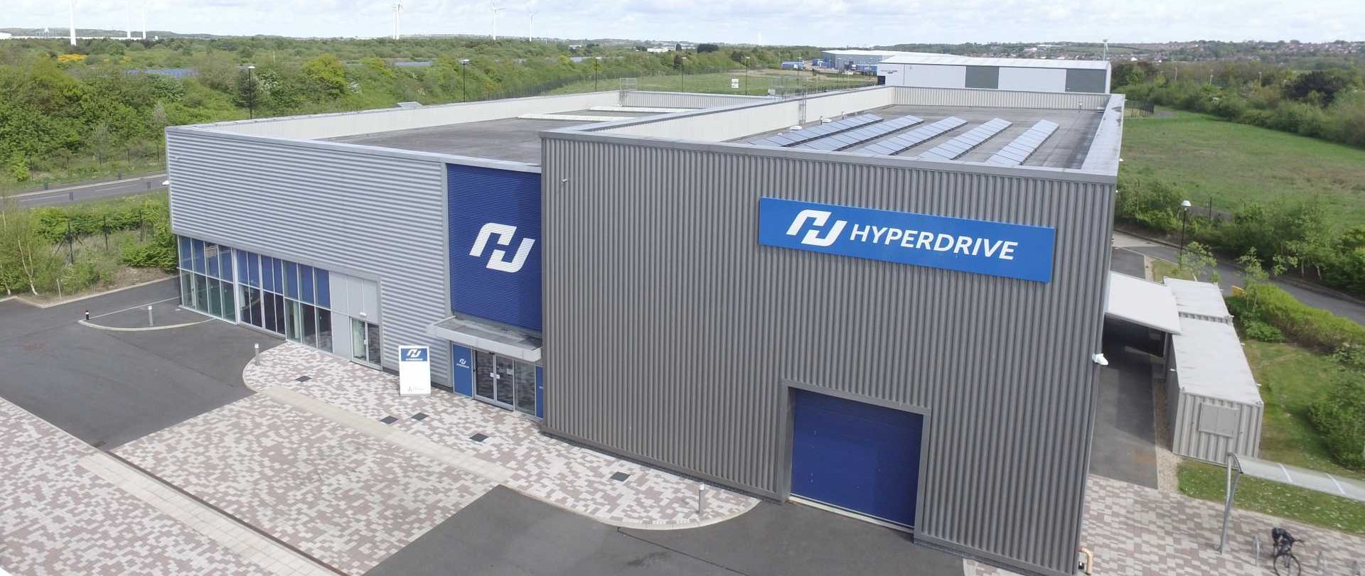 Hyperdrive building drone shot - image courtesy of Hyperdrive Innovation