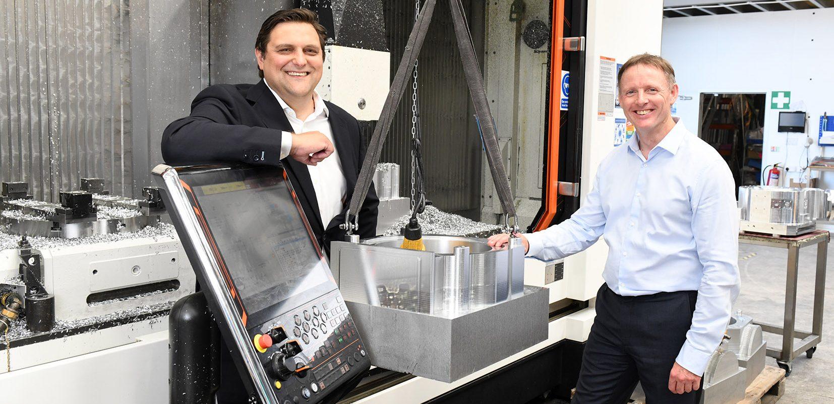 (L to R) Simon Weston (Aero Services Global Group) and Simon Kirkman (AMF Precision Engineering)
