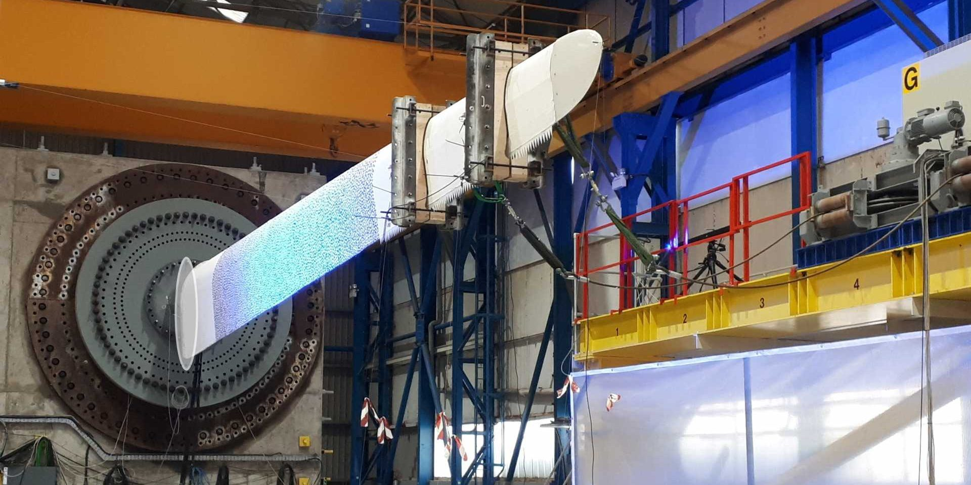 ACT Blade's innovative wind turbine blade design undergoing testing by ORE Catapult.