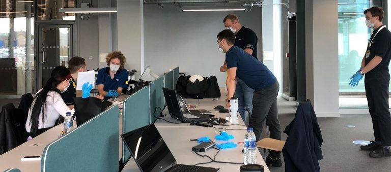 Siemens - Using a four-day hackathon, and under strict social distances measures, the group used software to design, simulate, build and test a manufacturing aid that helped reduce the calibration time from 40 minutes to two.