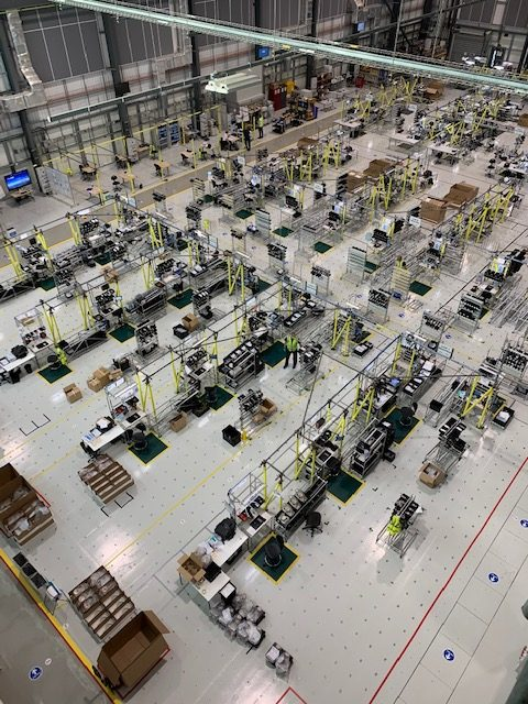 Ventilator production lines at the AMRC