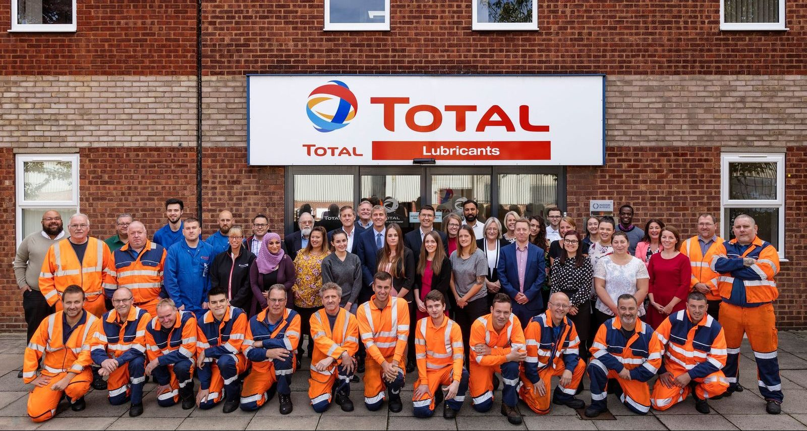 Total Lubricants UK team 2018 Image: Total Lubricants in UK