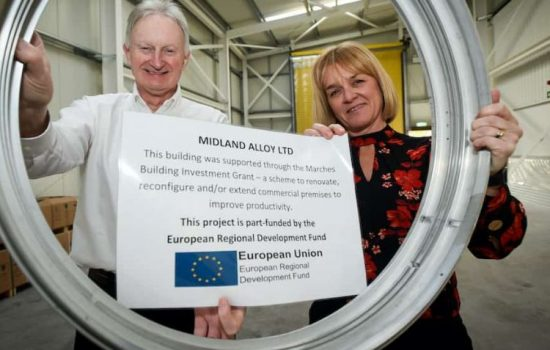 Midland Alloy has used a grant of nearly £100,000 to expand its warehouse operations and create six jobs.