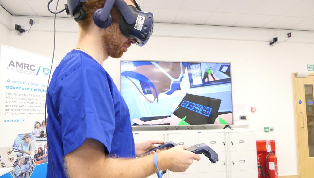 A virtual reality vr digital twin demonstrated at the AMRC's Digital Operating Theatre