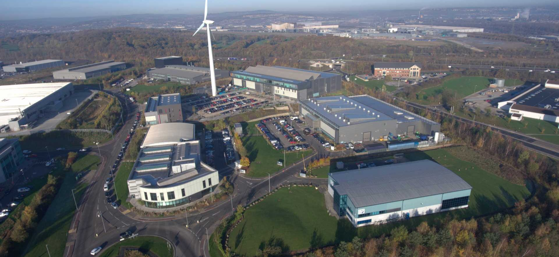 The Advanced Manufacturing Park is one of the most concentrated manufacturing bases in the UK. Image: HVMC