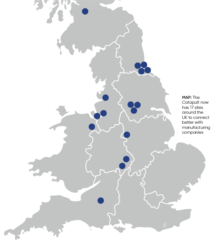 HVM Catapult High Value Manufacturing - Sites Locations Sept 2020
