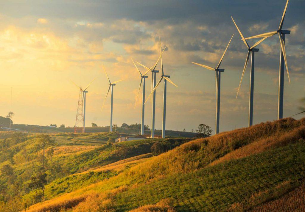Net Zero - Wind turbines on sunny morning - Shutterstock - Remanufacture sustainable manufacturing - Sustainability