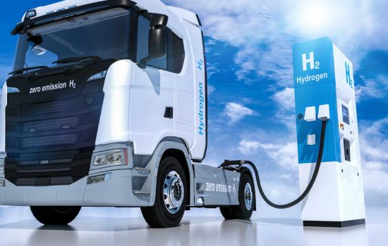 hydrogen logo on gas stations fuel dispenser. h2 combustion Truck engine for emission free ecofriendly transport. 3d rendering - Shutterstock