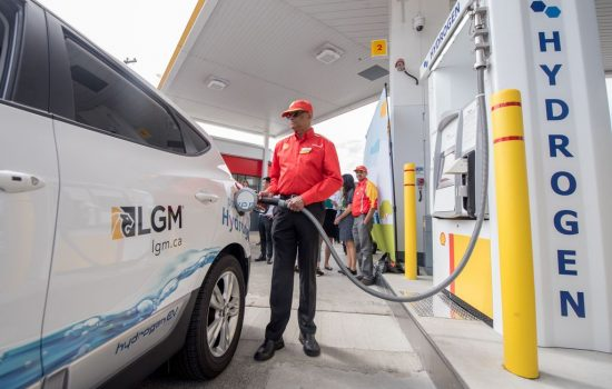 A Hydrogen refuelling station - image courtesy of Shell