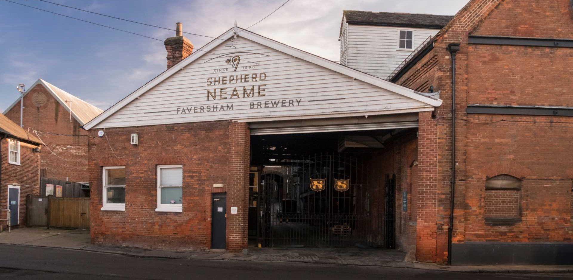 Faversham, Kent, UK, November 2019 - The Shepherd Neame Brewery building in the medieval market town of Faversham, Kent, UK - Shutterstock